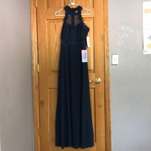 NWT Never worn navy prom dress